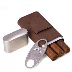 Harrison Brown Leather Cigar Case