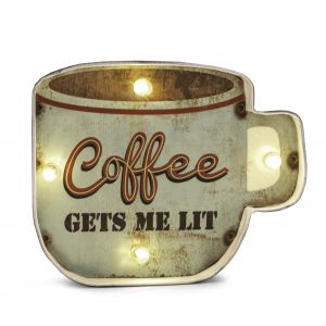 Coffee Gets Me Lit Wall Décor